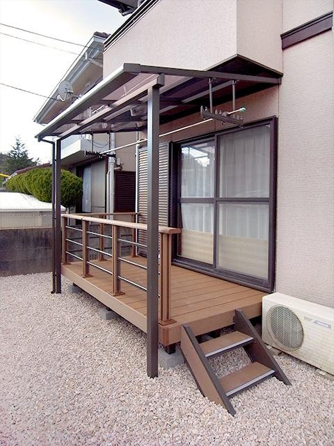 雑草対策万全!物干しスペースもついたお庭リフォーム! 奈良市N様邸