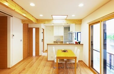 キッチン対面L型、取替えリフォーム 生駒市T様邸