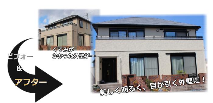 外壁リフォーム(塗装・サイディング工事)施工事例