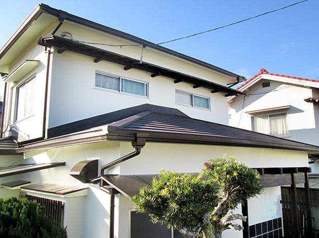 瓦屋根を下地から補修して金属屋根に葺き替えと外壁塗装リフォーム! 北葛城郡上牧町M様邸
