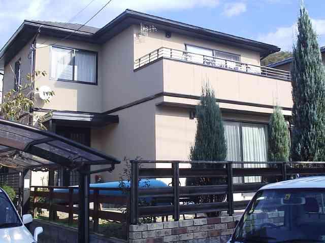 外壁塗装ガイナで落ち着いた色合い変身リフォーム 生駒市G様邸