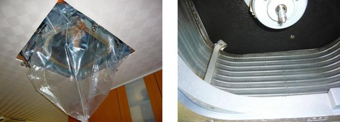 天井埋め込み型エアコンのクリーニング