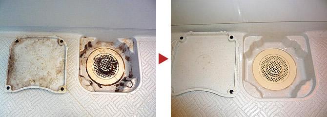 浴室排水口クリーニング