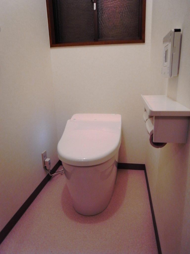 超節水&コンパクトなタンクレストイレを使ったトイレのリフォーム 生駒市G様邸