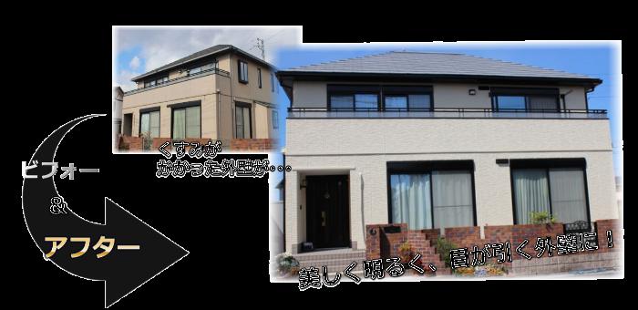 外壁リフォーム(塗装・サイディング工事)施工事例生駒市