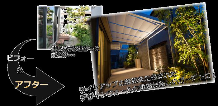 外構・エクステリア・ガーデン・フェンス・カーポートリフォーム会社・業者ビフォー・アフター香芝市