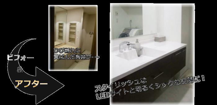 洗面所リフォーム施工事例