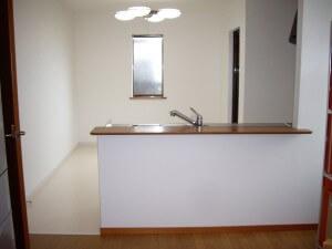 暗いキッチンが 奈良市S様邸