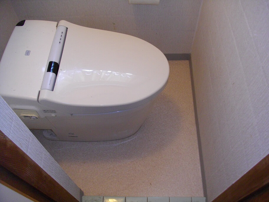 トイレの床のたわみを解消! 生駒郡三郷町H様邸