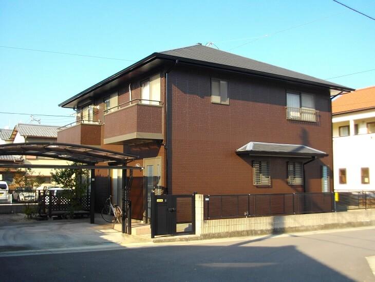 シリコン塗装で外観イメージを一新! 生駒市R様邸