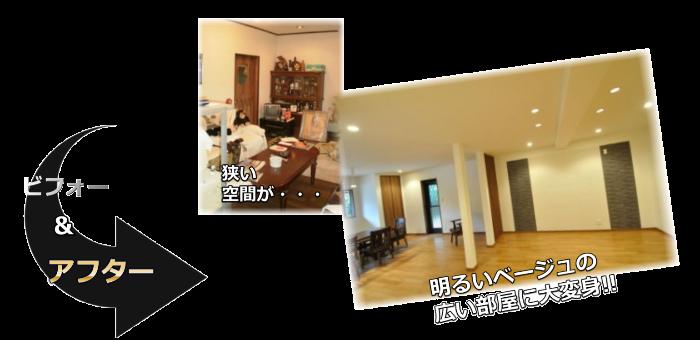 リビングリフォーム施工事例生駒市