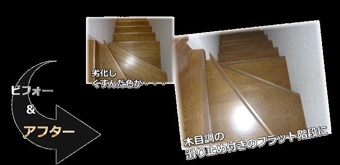 階段リフォーム施工事例帝塚山中町