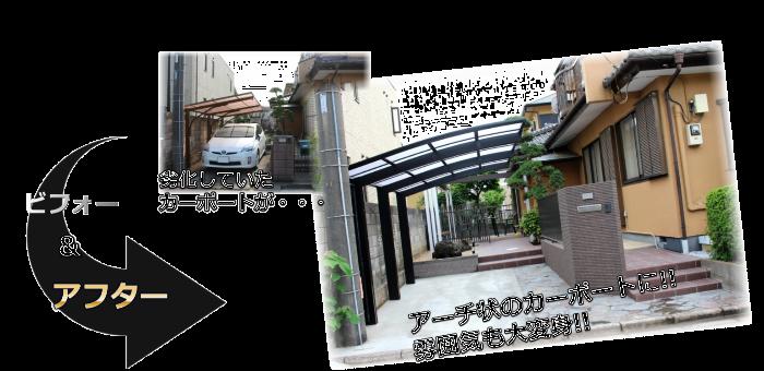 駐車場・ガレージリフォーム会社・業者施工事例橿原市