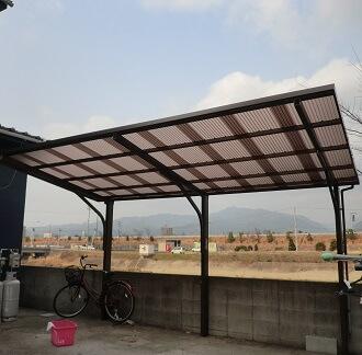 強風でも安心、カーポートの屋根をポリカ波板に張替えしました! 奈良市E様邸