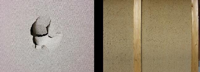 クロス穴と土壁