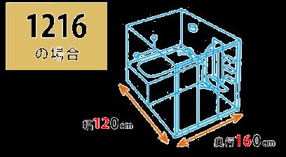 ユニットバスサイズ1216
