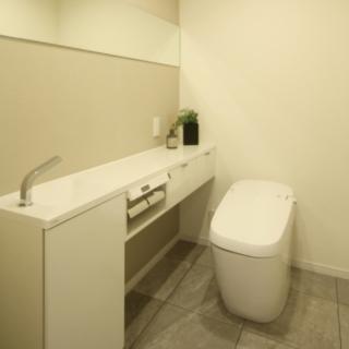 トイレはLIXILサティス、手洗いカウンターはLIXILキャパシア