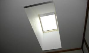 自然の光で満たされる!天窓施工!