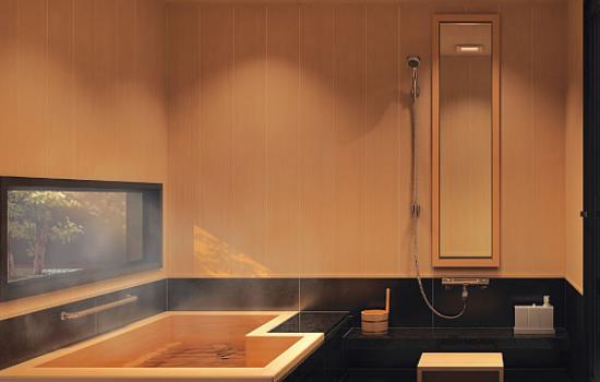 ヒノキ製浴槽のシステムバスにする