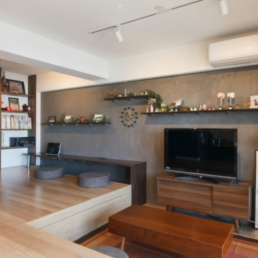 一段差のある床を腰掛けへマンションリノベーション