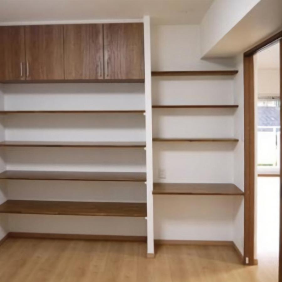 大容量の収納スペースを各部屋に設置