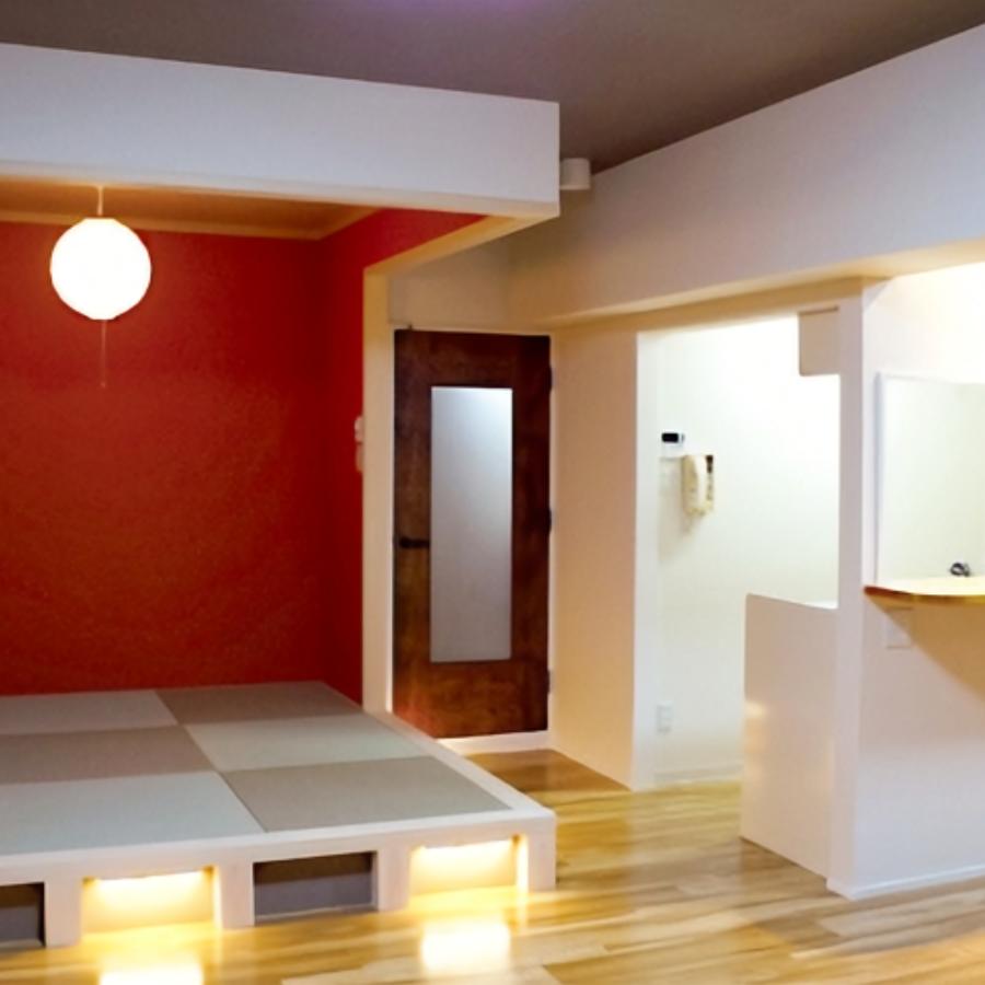 モダンな和室がある個性的な空間の一室